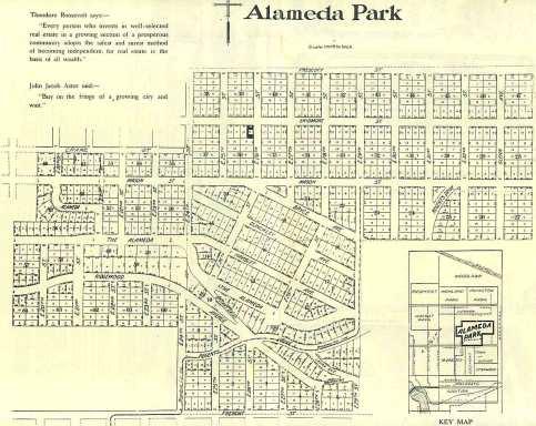 Alameda Park Plat Map, c. 1912