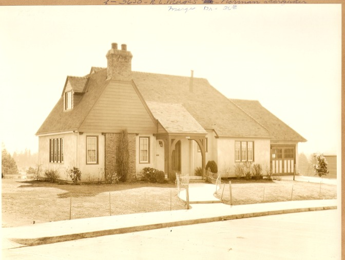 3650 NE Merges Drive, built by A.H. Irwin in 1929. Photo courtesy of Paul Crocker.