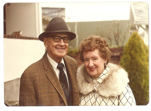 Architect and builder Albert Hugh Irwin and his wife Ruth Marie Irwin. Taken in 1973. Photo courtesy of Paul Crocker, A.H. Irwin Collection.
