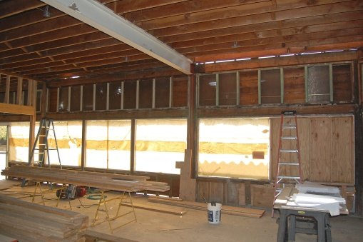 9-13-14 Inside looking south at windows