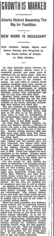 Alberta District Grows, 6-26-1910
