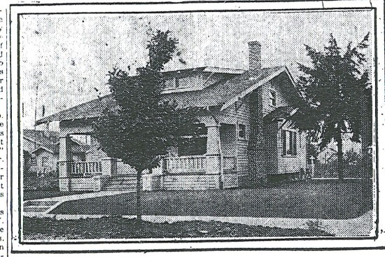 George and Manila Kettleberg home, built 1921. 2933 NE Skidmore. From The Oregonian, September 11, 1921.