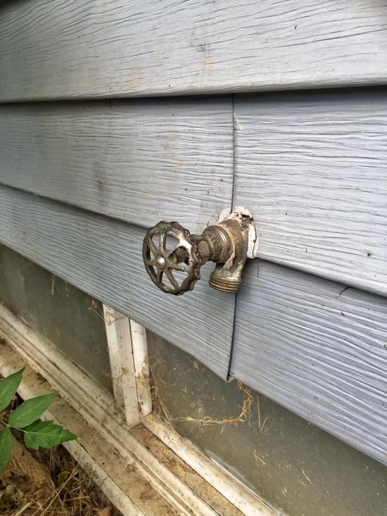Garden hose valve, 2933 NE Skidmore